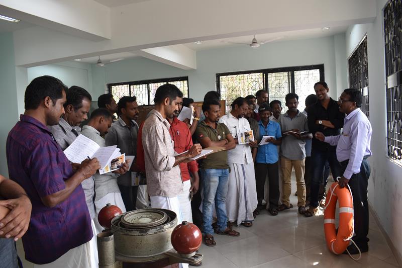 in-house training for fishermen